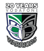20 years Vodafone Warriors  logo