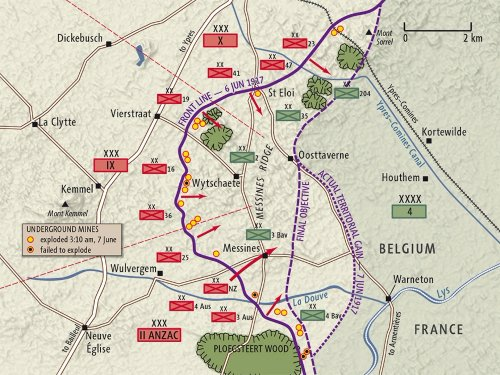 Ypres Battle map