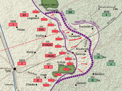 Battle of Passchndeale map