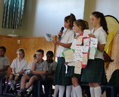 Children present at St Joseph's School Assembly