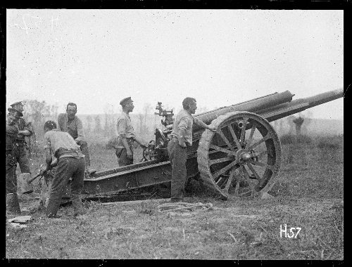 Field gun at the Battle of Messines