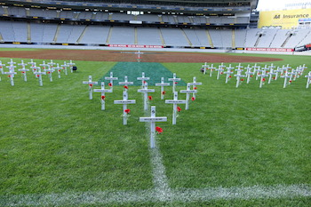 Crosses on the Field at Eden Park
